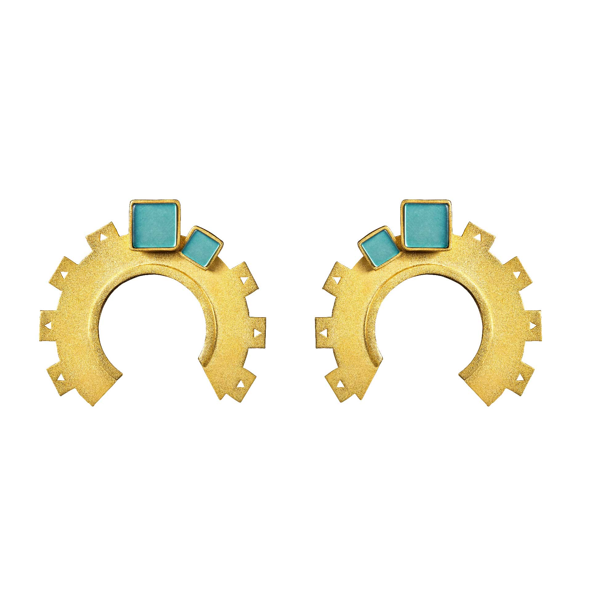 COGS AND WHEELS EARRINGS