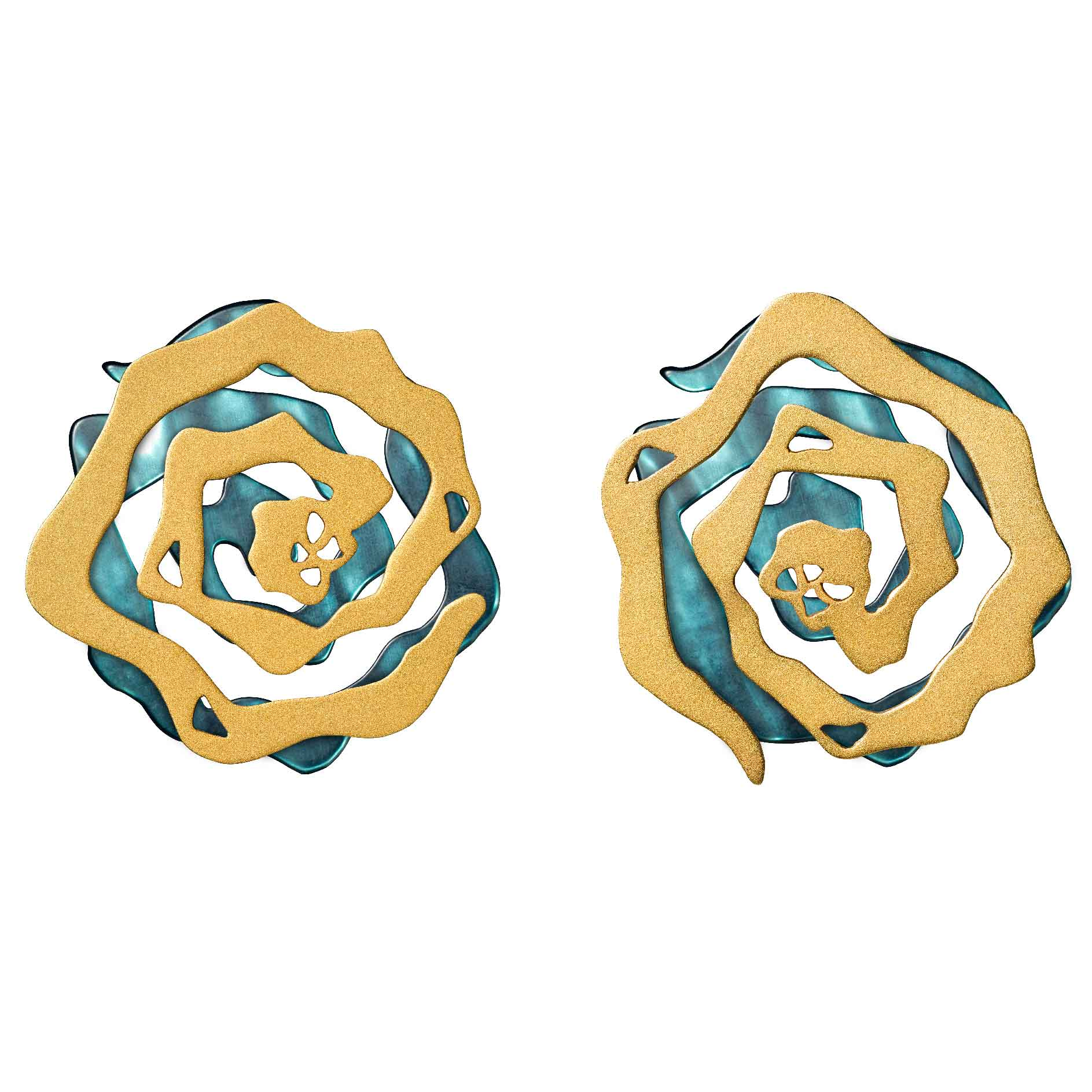 INTERCHANGEABLE CABBAGE EARRINGS