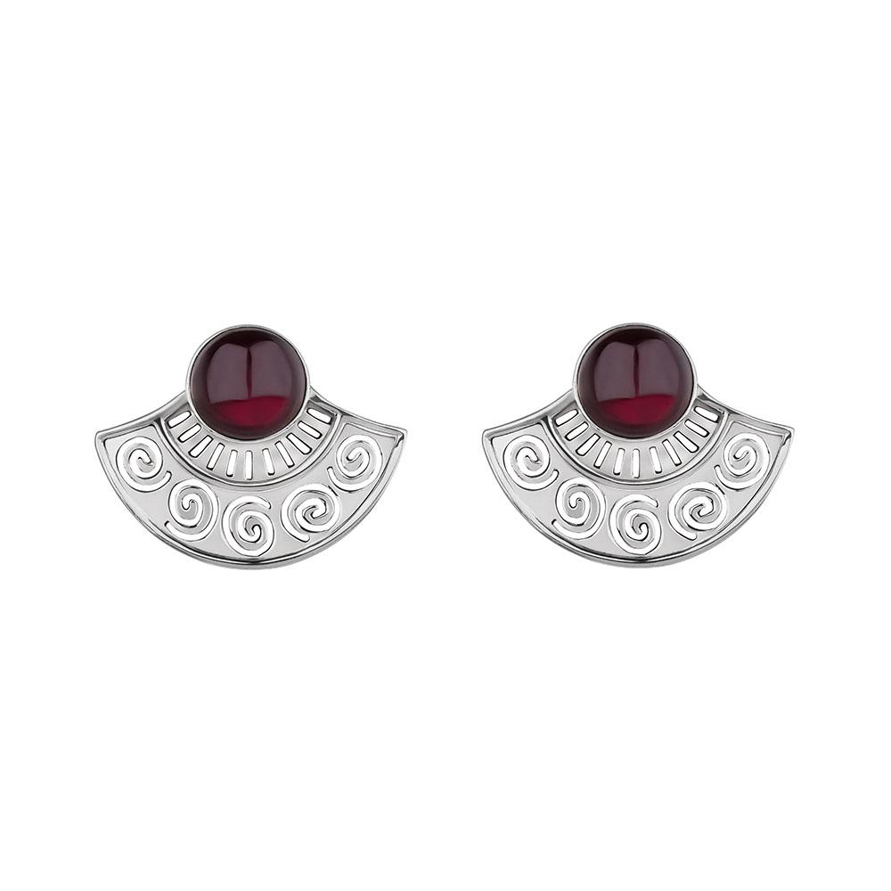 Mezza Sol Silver Earrings