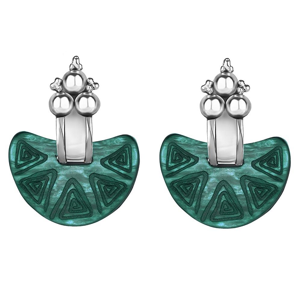 Nostra Tera Silver Earrings