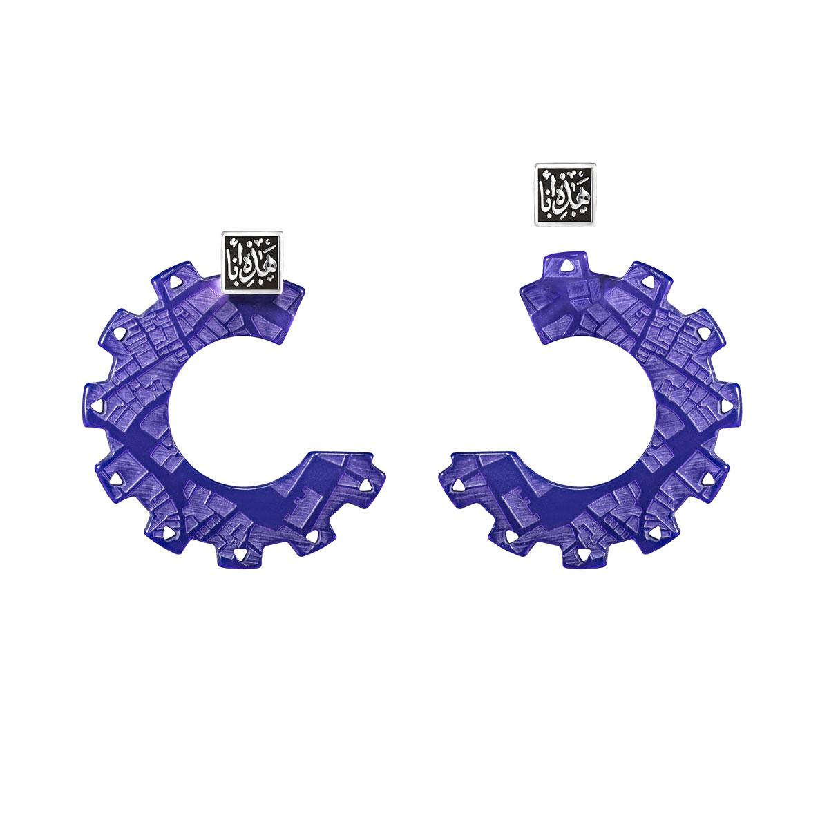 Maps & Wheels Interchangeable Earrings