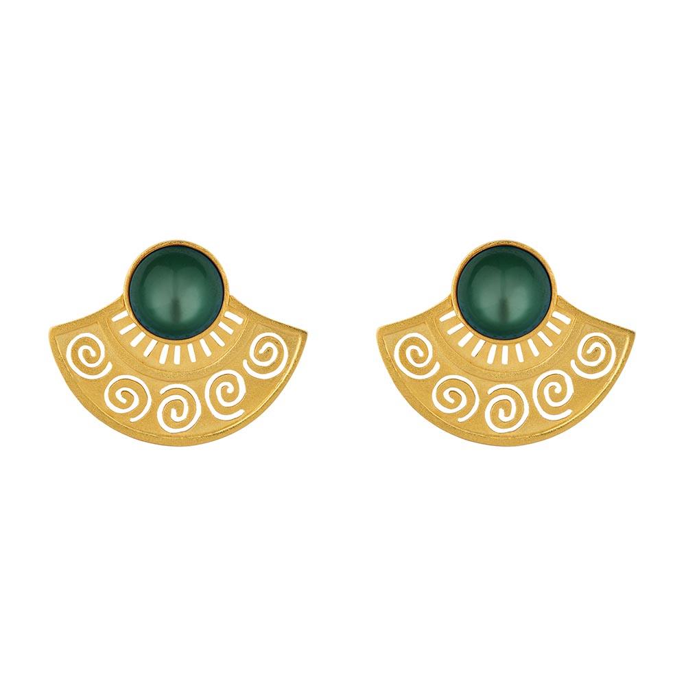 Mezza Sol Gold Earrings