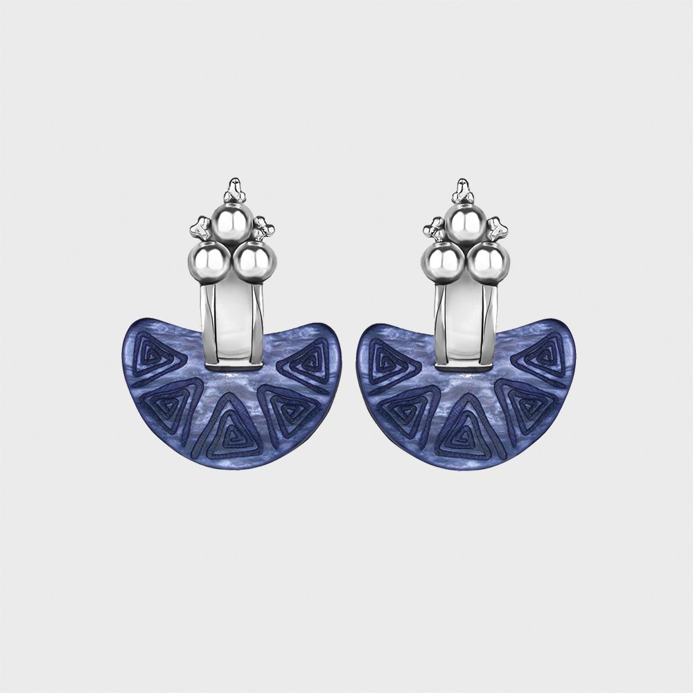 ONLINE EXCLUSIVE | Nostra Terra Earring (Silver & Blue)
