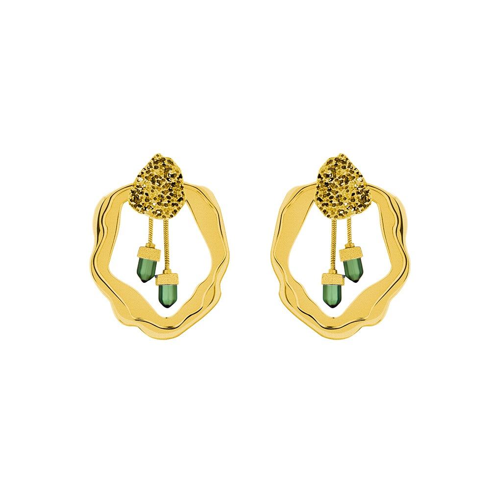 Flare Gold Earrings